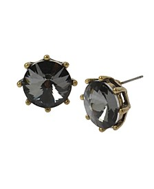 New York Rivoli Stone Stud Earrings