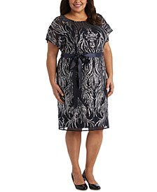 Plus Size Sequined Sheath Dress