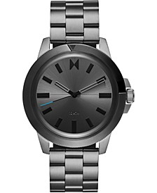 Men's Minimal Sport Gunmetal-Tone Stainless Steel Bracelet Watch 45mm