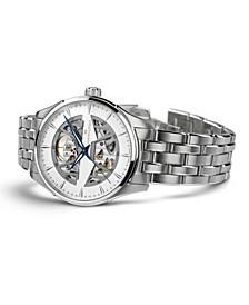 Men's Swiss Automatic Jazzmaster Stainless Steel Bracelet Watch 40mm