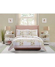 Fay Flower 3-Piece Quilt Set, Full/Queen