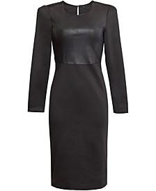 Mixed-Media Bodycon Dress