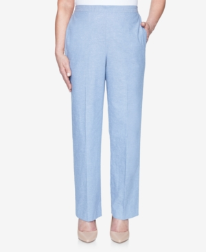 Plus Size Pull On Back Elastic Chambray Proportioned Short Pant