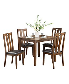 Homelegance Neunan Dining Room Table and Chairs, Set of 5