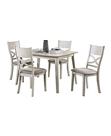 Homelegance Zoey Dining Room Table and Chairs, Set of 5