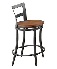 Homelegance Makah Swivel Counter Height Chair