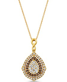 """Nude Diamonds® & Chocolate Diamonds® Fancy 18"""" Pendant Necklace (1-5/8 ct. t.w.) in 14k Rose, Yellow or White Gold"""