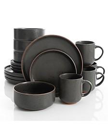 Black Sand 16-piece Dinnerware Set, Service for 4