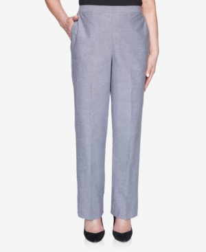 Plus Size Pull On Back Elastic Chambray Proportioned Medium Pant