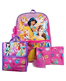 Princess Backpack, 5 Piece Set