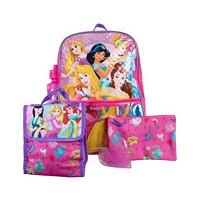 Deals on Bioworld Princess Backpack 5 Piece Set