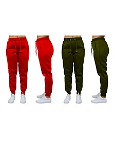Women's Loose Fit Fleece Jogger Sweatpants, Pack of 2