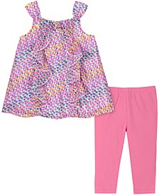 Baby Girls 2-Pc. Mini Floral-Print Tunic & Leggings Set