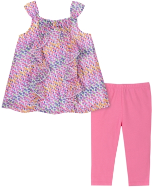 Kids Headquarters Baby Girls 2-pc. Mini Floral-print Tunic & Leggings Set