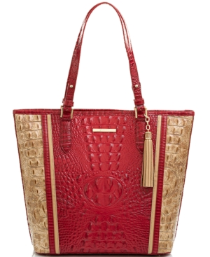 Brahmin Asher Fuego Embossed Leather Tote