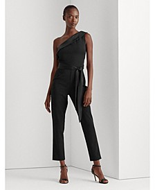 Sequin-Trim Jersey Jumpsuit