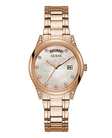 Rose Gold-Tone Mother of Pearl Watch 36mm