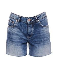 Denim Mid Length Shorts