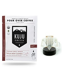 Papua New Guinea Premium Single-Serve Pour Over Coffee, 10 Pack