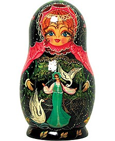 5 Piece Swan Princess Russian Matryoshka Nested Doll Set