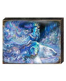 Polar Princess Wall and Table Top Wooden Decor by Josephine Wall