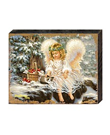 by Dona Gelsinger Winter-Companions Wooden Block