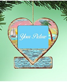 Coastal Heart Picture Ornament Set of 2