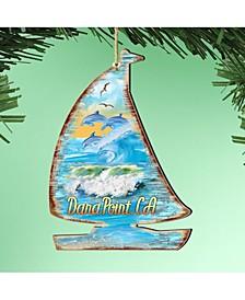 Sailboat Wooden Ornaments Set of 2