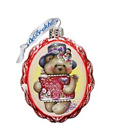 Note to North Pole Santa Hand Painted Glass Ornament