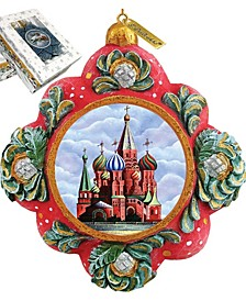 Hand Painted Scenic Ornament St Basil Cathedral