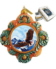 Hand Painted Majestic Eagle Scenic Ornament