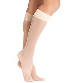 HUE® Women's Sheer Knee High Trouser 2 Pack Socks
