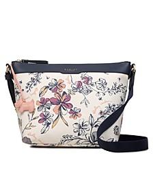 Sketchy Floral Medium Ziptop Crossbody