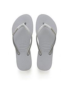 Women's Slim Glitter Flip Flops