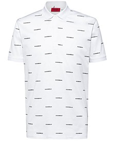 Men's Datelites Regular-Fit Logo-Print Polo Shirt