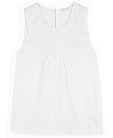 Embroidered Yoke Tank Top