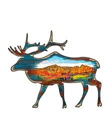 Elk Wooden Ornaments, Set of 2
