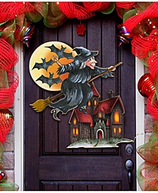 Witch/House/Bats/Door Hanger Over The Door Wooden Hanger