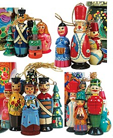 Christmas Wooden Ornaments, Set of 12