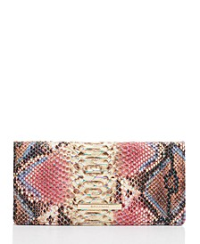 Ady Reina Embossed Leather Wallet