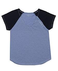 Short Sleeve Raglan Pajama Shirt