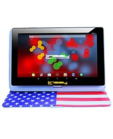 "10.1"" 1280 x 800 IPS Screen Quad Core 2 GB Ram Tablet 16 GB Android 6.0 with USA Style Leather Case"