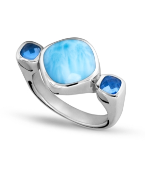 Larimar & Blue Spinel (1/4 ct. t.w.) Statement Ring in Sterling Silver