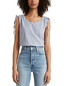 Magnolia Tie-Shoulder Top