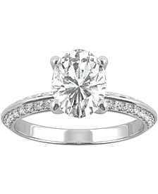 Moissanite Oval Engagement Ring (2-3/8 ct. t.w. DEW) in 14k White Gold