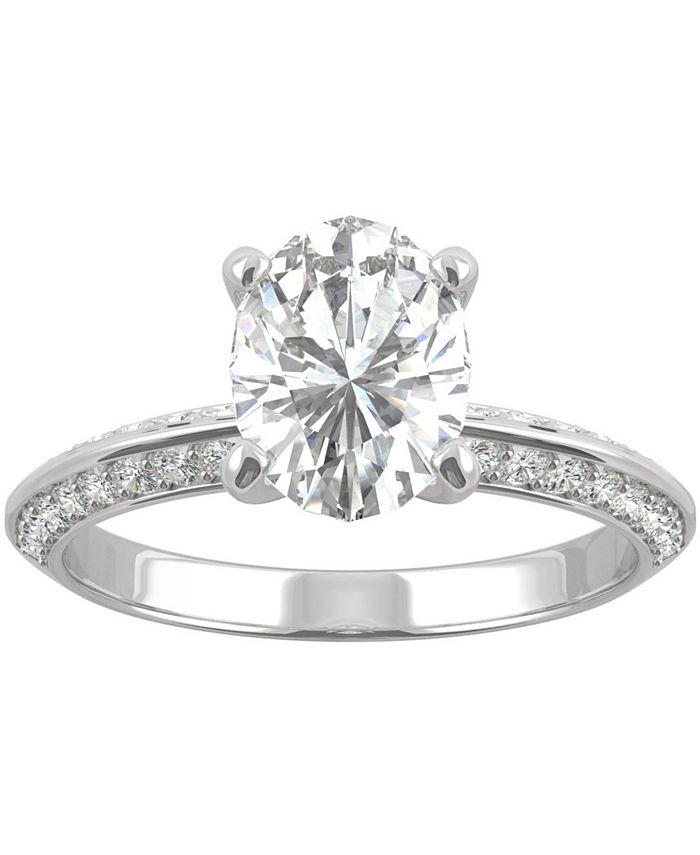 Charles & Colvard - Moissanite Oval Engagement Ring (2-3/8 ct. t.w. DEW) in 14k White Gold