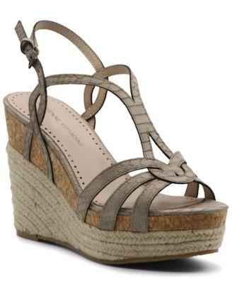 Clutch Platform Wedge Sandals