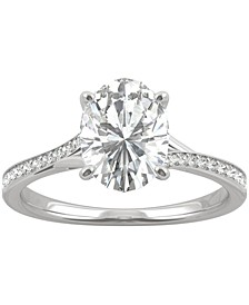 Moissanite Oval Engagement Ring (2-1/4 ct. t.w. DEW) in 14k White Gold