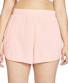 Plus Size Yoga Ribbed Shorts