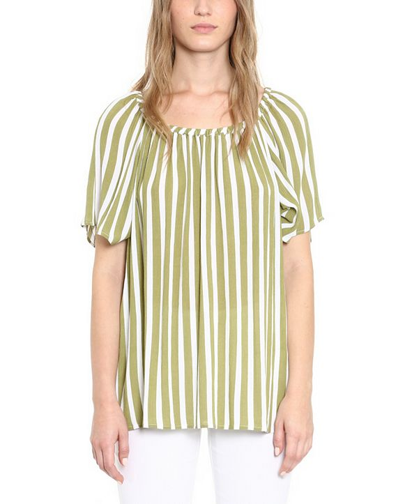 Michael Kors Plus Size Striped Top